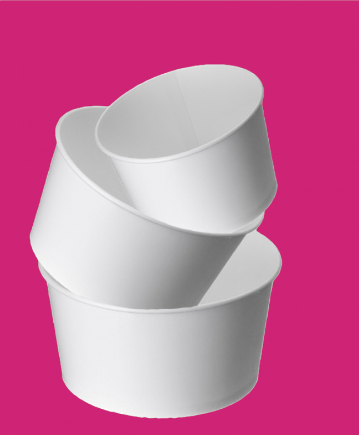 Tubs White Plain Pink Background