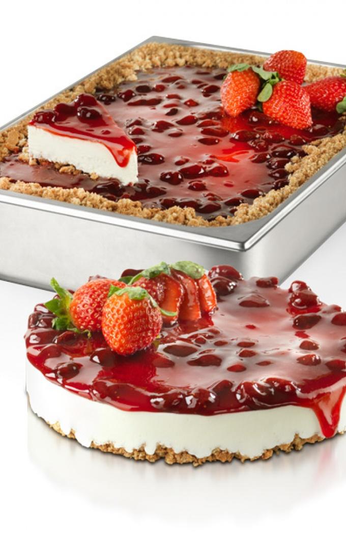 Tassello cheesecake vaschetta e torta