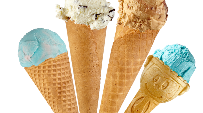 Waffle Wafer Sugar Cones with scoops