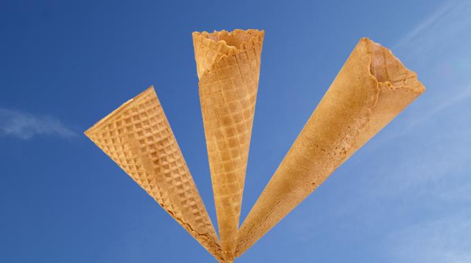 Sugar Waffle Smoothy Cone