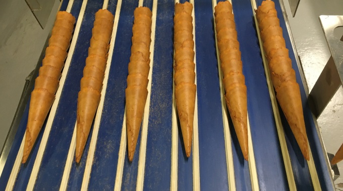 Cinnamon Cone on Production Line