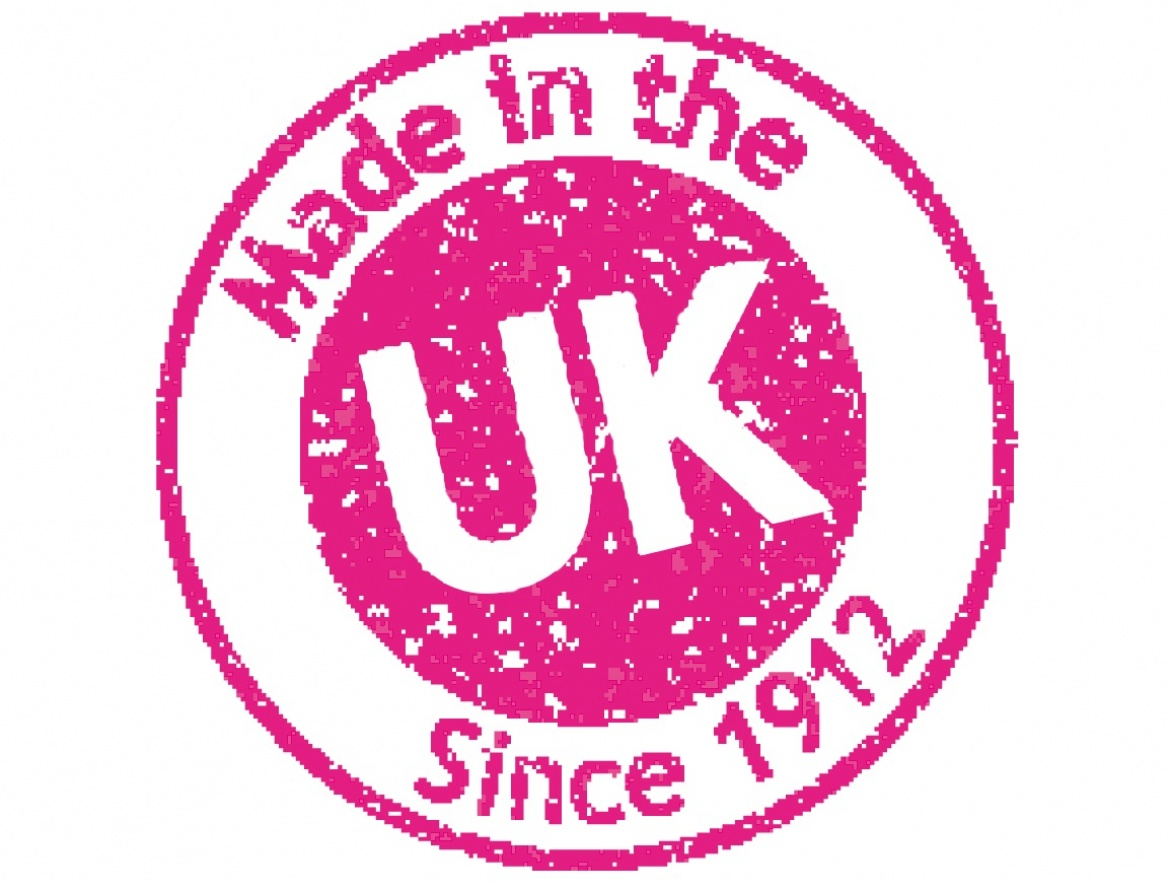 UK stamp pink with complete white UK